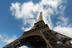 Eiffel Tower Timelapse Video over the Seine river. Eiffel Tower close -up timelapse video stock video