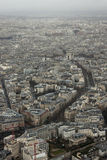From Eiffel Tower to Triumphal Arch. View to the Triumphal Arch from Eiffel Tower stock image