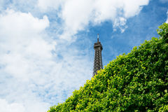 Eiffel Tower top, Paris, France Royalty Free Stock Photography