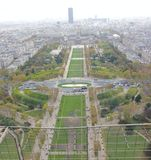 Eiffel tower top view Royalty Free Stock Photos