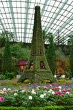 Eiffel tower topiary replica stock photo