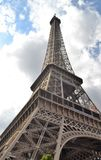 Eiffel Tower, Touching the clouds Stock Photo