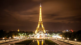 The Eiffel Tower Tourist Attraction in Paris Royalty Free Stock Photography