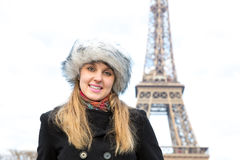 Eiffel Tower tourist in Paris, France Stock Images