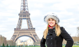 Eiffel Tower tourist in Paris, France Royalty Free Stock Image