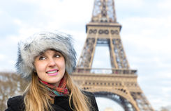 Eiffel Tower tourist in Paris, France Stock Photo