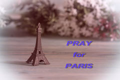 Eiffel Tower Toy .Paris Icon , peace Stock Images