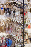 Eiffel tower trinkets in Paris, France Royalty Free Stock Image