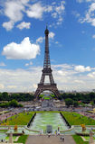 Eiffel tower from Trocadero Royalty Free Stock Photos