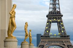 Eiffel Tower from the Trocadero Stock Images