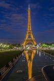 The Eiffel Tower Trocadero Fountain Paris Night Royalty Free Stock Photos