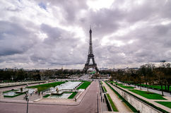 The Eiffel tower from Trocadero Stock Photos