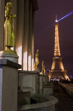 Eiffel Tower from the Trocadero in Paris Stock Images