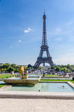 Eiffel tower from trocadero Royalty Free Stock Photography