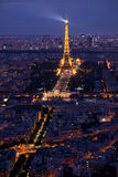 The Eiffel tower at twilight. Royalty Free Stock Photos