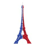 Famous Eiffel tower in typographic style Royalty Free Stock Photos