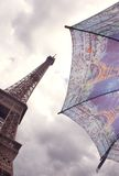 Eiffel Tower and umbrella, Paris Royalty Free Stock Photos