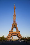 Eiffel tower under last rays of sun. Stock Images