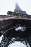 Eiffel tower under the snow Royalty Free Stock Photography