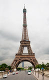 Eiffel Tower Under a Stormy Sky Royalty Free Stock Photography