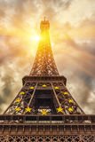 The Eiffel tower under sun light Royalty Free Stock Photo