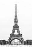 Eiffel Tower Under The Snow Stock Photos