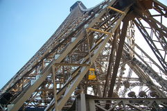 Eiffel tower from under Stock Photos