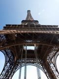 Eiffel Tower up close. Paris, France Stock Photos