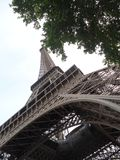 Eiffel Tower up close Royalty Free Stock Images