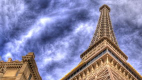 Eiffel tower up cropped stock video footage