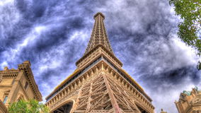 Eiffel tower up panning stock video footage