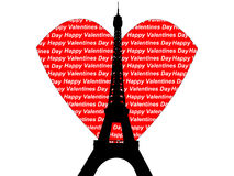 Eiffel tower valentines Royalty Free Stock Photography