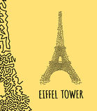 Eiffel Tower vector Royalty Free Stock Photography
