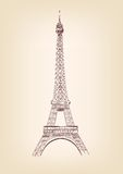 Eiffel tower vector illustration Royalty Free Stock Images