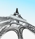 Eiffel tower vector illustration Royalty Free Stock Photo