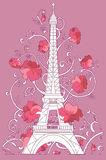 Eiffel tower vector silhouette Stock Photography