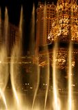 Eiffel Tower in Vegas - water view. Eiffel Tower in Las Vegas - view through the dancing fountains Stock Image