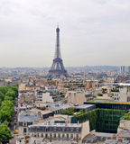 Eiffel tower view from Arc triumph Royalty Free Stock Photo