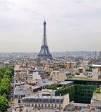 Eiffel tower view from Arc triumph. Paris city Eiffel tower view  from Arc triumph Royalty Free Stock Photo