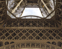 The  Eiffel Tower view from below Stock Photo