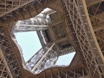 The Eiffel Tower - view from below Royalty Free Stock Image