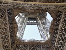 The Eiffel Tower - view from below Royalty Free Stock Photos