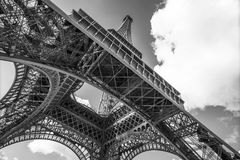 The Eiffel Tower, view from below, Paris France Royalty Free Stock Photography