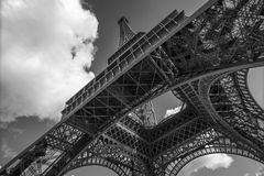 The Eiffel Tower, view from below, Paris Stock Photos
