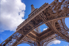 The Eiffel Tower view from below, Paris France Royalty Free Stock Images