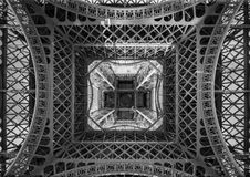The Eiffel Tower, view from below, Paris France Royalty Free Stock Photo