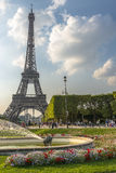 Eiffel Tower view from Champ de Mars Royalty Free Stock Photography