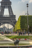 Eiffel Tower view from Champ de Mars Royalty Free Stock Image