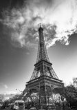 Eiffel Tower view from Champs de Mars Gardens Stock Photos