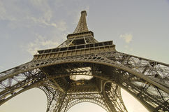 Eiffel Tower view from Champs de Mars Gardens Royalty Free Stock Photography